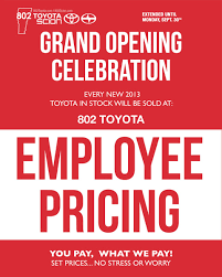 Employee Pricing Grand Opening Celebration Event, You Pay What We Pay!