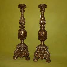 ll 031 a pair of 19th century baroque style carved and gilt wood