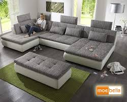 Wohnland Sofa Free With Sleeping Function And 4 X Headrests