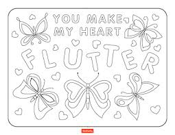 Create an valentine's day picture using mosaic tiles. 15 Valentine S Day Coloring Pages For Kids Shutterfly