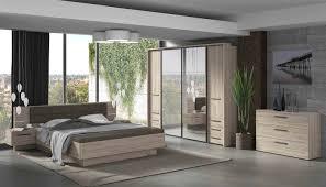 Schlafzimmer Set 2 Teilig 180x200cm Eiche Bianco Inkl Beleuchtung Neu