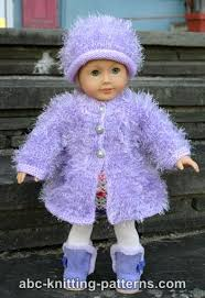 Free Printable American Girl Doll Clothes Patterns Fascinating ABC Knitting Patterns American Girl Doll Fur Coat