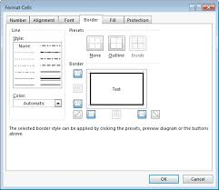 Ms Excel 2016 Draw A Border Around A Cell