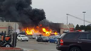 fire outside a canadian tire in ajax march 14 2018 handout cathy benson