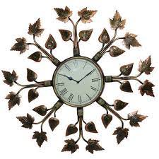 the art deco iron wall clock the art