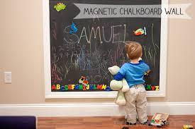diy magnetic chalkboard wall the