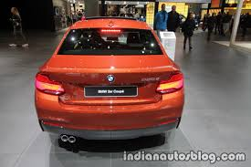 2018 BMW 2 Series Coupe (LCI) rear at the IAA 2017 - Indian Autos blog