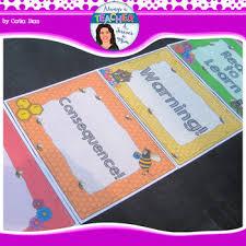 Beehive Classroom Decor Theme Behavior Chart With Editable Name Tags