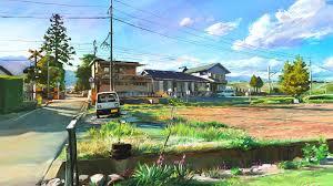 Wallpaper Art Painting Japan Landscape Village 1920x1200