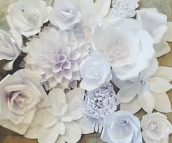 White Paper Flower Wall Paper Flower Backdrop Ash And Crafts