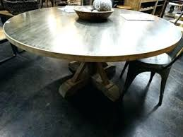 zinc top round dining table zinc round dining table large round zinc top table with pedestal
