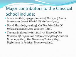 classical school of economics ppt  11 major contributors