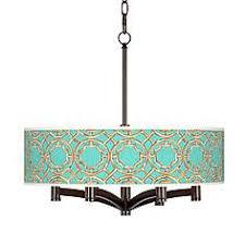 teal bamboo trellis ava 6 light bronze pendant chandelier asian lighting