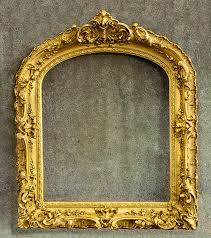 large elegant gold arched top frame made in the 1880s 1890s it is 35 x 42 and the painting size is 25 x 29 1 2 is about 5 from front to back