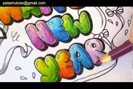 colored bubble letters how to draw a happy new year color bubble letters 3d art drawing