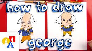 Art For Kids How To Draw A Cartoon George Washington Youtube