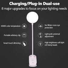 Đèn bàn không dây clip-on phòng học 3 chế độ cảm ứng 1200mAh có thể sạc lại đèn  bàn đọc sách LED 7000K Đèn bàn USB 7000K đèn linh hoạt giá cạnh