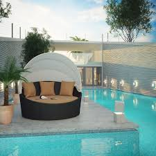 Round Outdoor Bed Furniture Outdoor Daybed With Canopy Round Daybeds Patio Day Beds