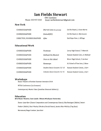 gallery ian fields stewart choreography resume