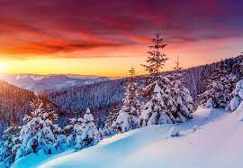 Free download Winter Sunset Background ...