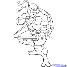 Small Picture Teenage Mutant Ninja Turtles Raphael Coloring Page Free Download