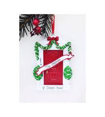 Decorating red door gifts photos : Red Door Personalized Christmas Ornament- New Home Ornament - Red ...