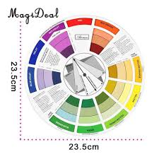 Paint Color Mixing Chart Magideal Round Color Mixing Guide Wheel For Paint Matching Pigment Blending Palette Chart Art Salon Tool Microblading