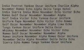 The term nato alphabet was adopted prior to the cold war as an alternative name for the icao phonetic alphabet, after it was used in a publication for the navies of all nato members. India Foxtrot Yankee Oscar Uniform Charlie Alpha November Romeo Echo Alpha Delta Tango Hotel India Sierra India Mike November Echo Victor Echo Romeo Golf Oscar November November Alpha Golf India Victor Echo Yankee Oscar Uniform Uniform