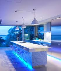 Chris Lee Homes Blue Kitchen LED Lighting