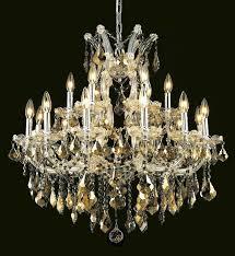 elegant lighting 2800d30c gt rc crystal maria theresa chandelier golden teak smoky