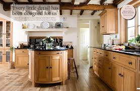 Breathtaking Pine Wooden Farmhouse Kitchen Cabinet Sets Also Oval Island  Two Door Storage Also Wooden Ceiling Pillars As Decorate In Vintage  Farmhouse ...