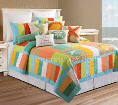 92 best Tropical Bedding Sets images on Pinterest   Beach, Beach ... & Washed Ashore Bedding - bright and funky color blocked tropical quilt with  decidedly island style Adamdwight.com