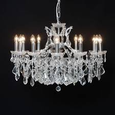 antique french cut glass chrome chandelier 12 arm