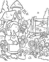 Small Picture Printable Flower Garden Coloring Pages adult