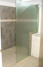 3 8 rain glass shower panel with gold channel