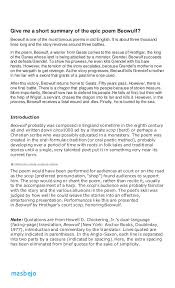 Beowulf Resume Examples Beowulf Essay Beowulf Epic Hero Essay Co New Beowulf Resume