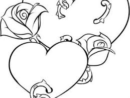 Small Picture Stunning Coloring Pages Hearts Roses Images Printable Coloring