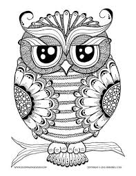 owl coloring pages for adults. Contemporary Owl Owl Coloring Page Pages For Adults And Grown Ups  Stress Relief Coping With Pain Over 100 Printable Pages To Fill  And For Adults L