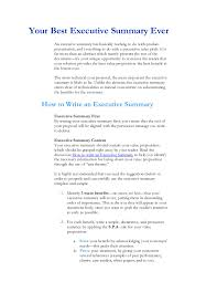 Executive Summary Sample For Proposal Executive Summary