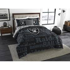 nfl raiders bed in a bag complete bedding set full new