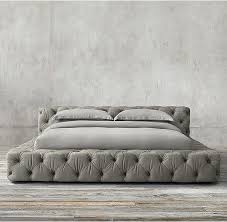 leather platform bed frame queen california king zinus deluxe faux upholstered