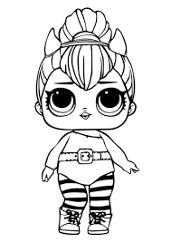 Lol Doll Spice Coloring Page Free Printable Coloring Pages