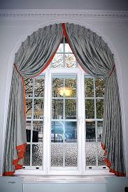 Window Curtain, Curved Curtain Rods For Arched Windows Awesome Semi Circle Window  Blinds White Tone