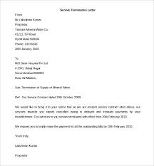 sample letters of termination termination letter template sample for business service cancellation