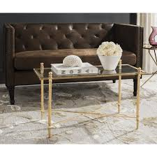 safavieh tait antique gold leaf coffee table free today intended for inspirations 9