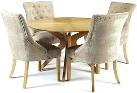 primo 120cm dining table 4 fabric chairs dining room ideas round oak dining table and chairs