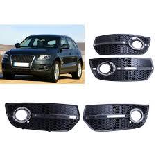 Audi Q5 Fog Light Bulb Type 2x Chrome Honeycomb Front Bumper Grille Fog Light Cover For