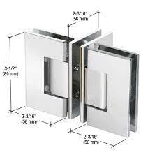 "T"" Configuration Geneva Glass-To-Glass Hinge GENT900CH"