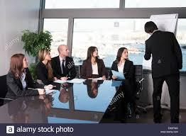 nice person office. Boardroom Presentation In A Nice Office With Panorama View - Six Persons Person I