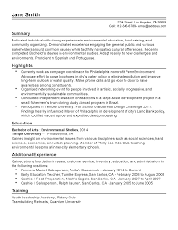 Resume Templates: Environmental Activist